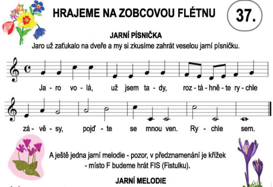 Škola hry na zobcovou flétnu – LEKCE 37.