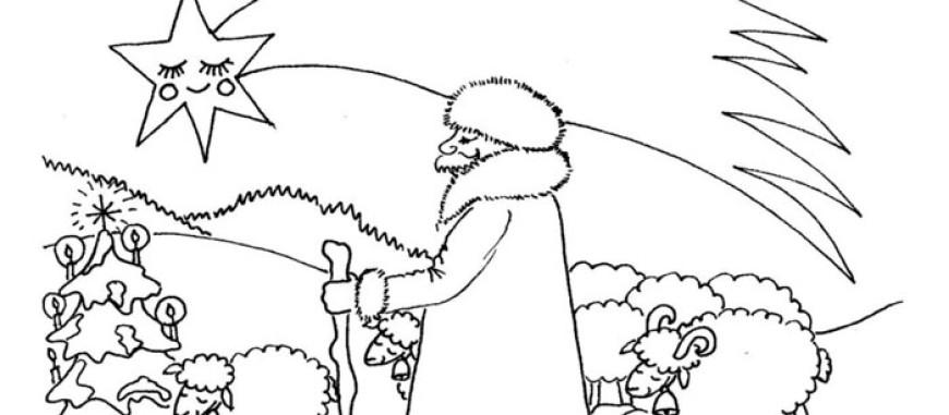 Pásli ovce Valaši – omalovánka koledy