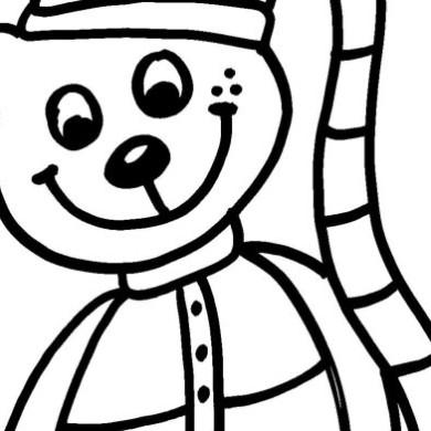 Omalovánka – medvídek