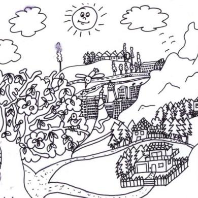 Omalovánka – město