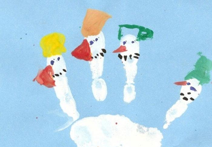 Prstoví sněhuláci