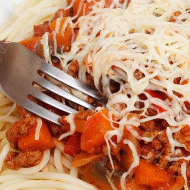 Špagety k večeři
