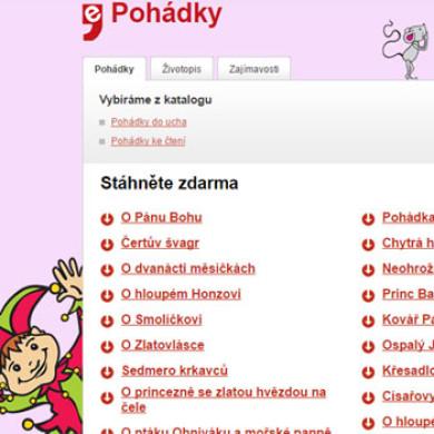 Stáhněte si zdarma klasické české pohádky