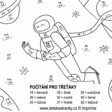 Kosmonaut – počítání pro třeťáky