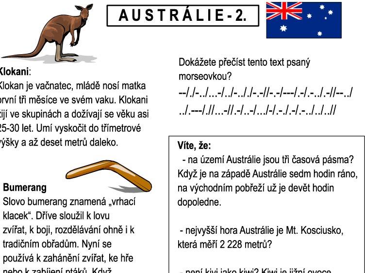 Letem světem – AUSTRÁLIE II.