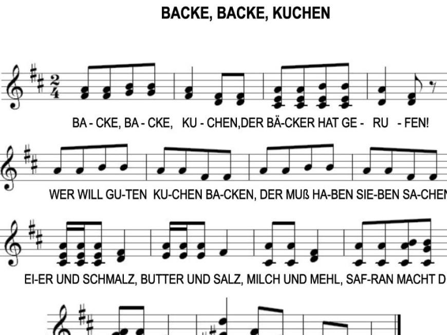 Němčina pro děti – písnička Backe, backe, Kuchen