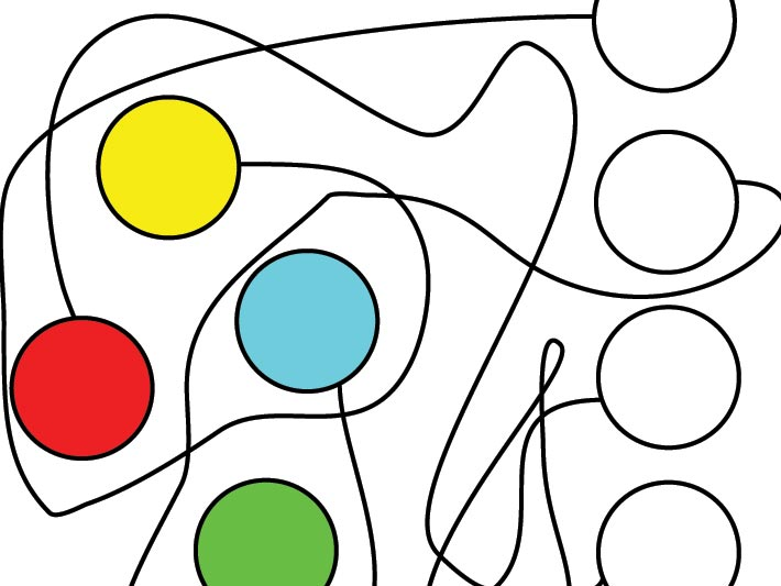 Spojovačka – barevná kolečka