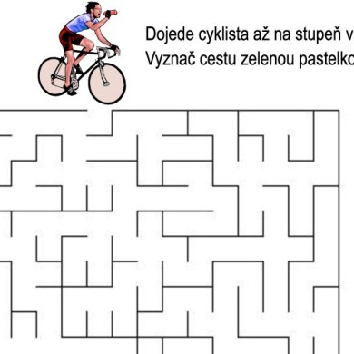 Bludiště – cyklista
