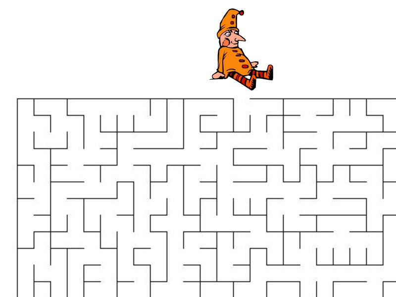 Bludiště – Kašpárek hledá cestu