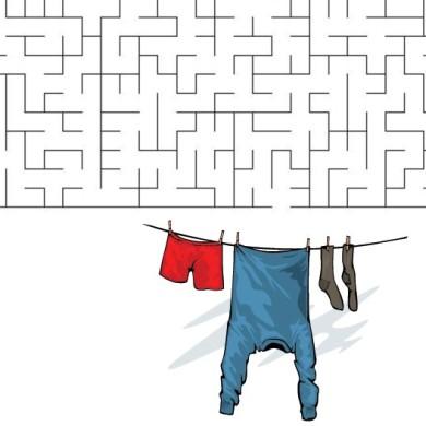 Bludiště – prádlo na šňůře