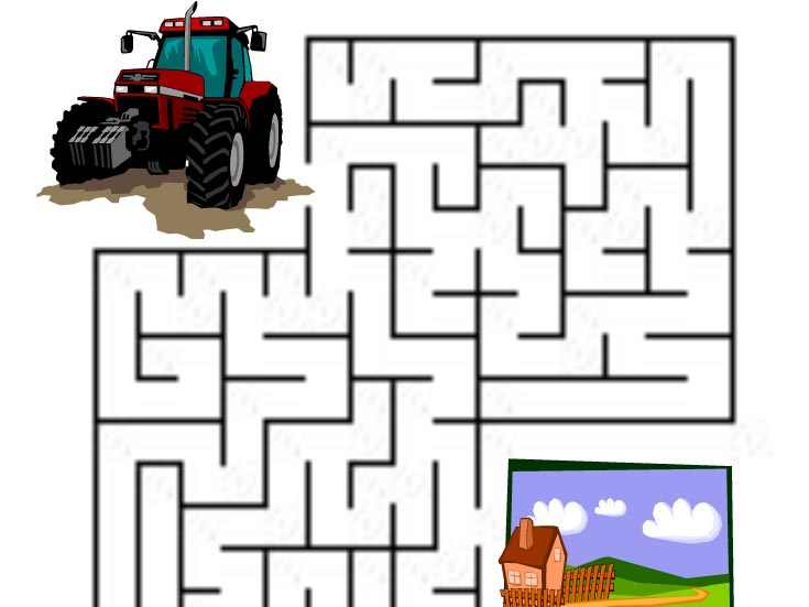 Bludiště – Dojeďte traktorem na louku
