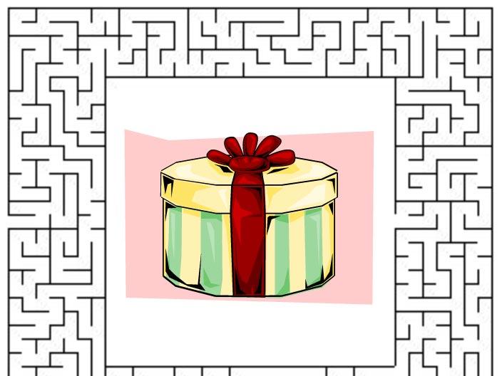 Bludiště – trefíte k dárku?