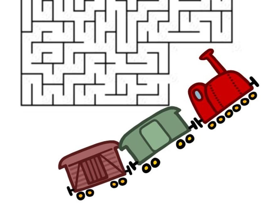 Bludiště – vlak