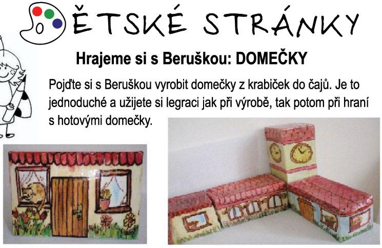 Hrajeme si s Beruškou: Domečky