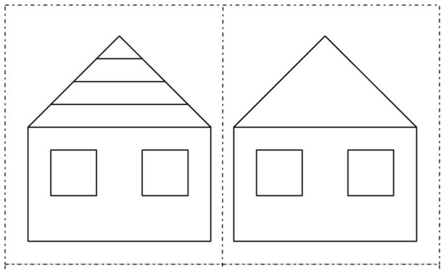 Jak se stavěl domeček? Časová posloupnost pro předškoláky