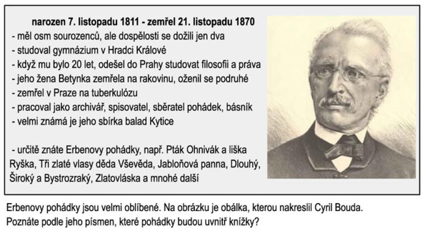 Dětští spisovatelé a ilustrátoři: Karel Jaromír Erben
