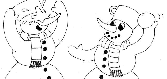 Koulovaná sněhuláků