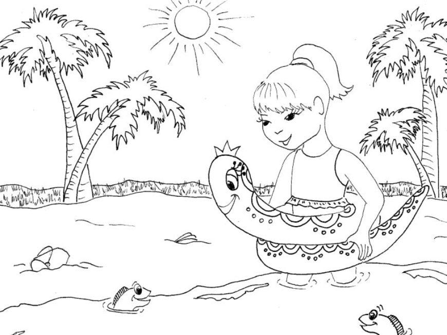Letní omalovánka
