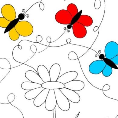 Motýlci a kytičky – jarní pracovní list