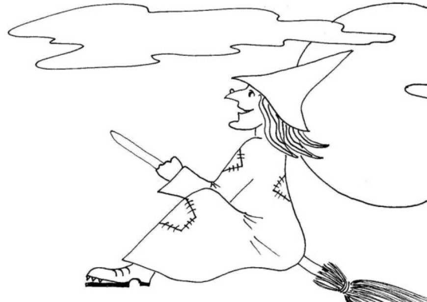 Čarodějnická omalovánka
