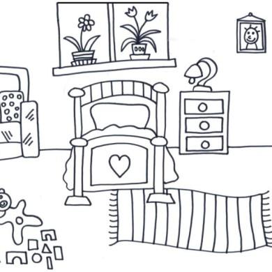 Omalovánka – dětský pokoj