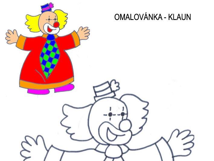 Omalovánka – klaun