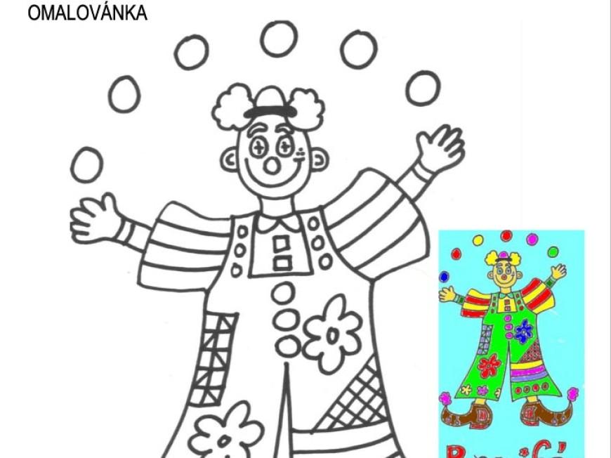Omalovánka – klaun Bonifác