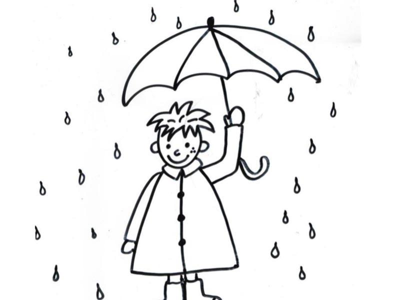 Omalovánka – déšť