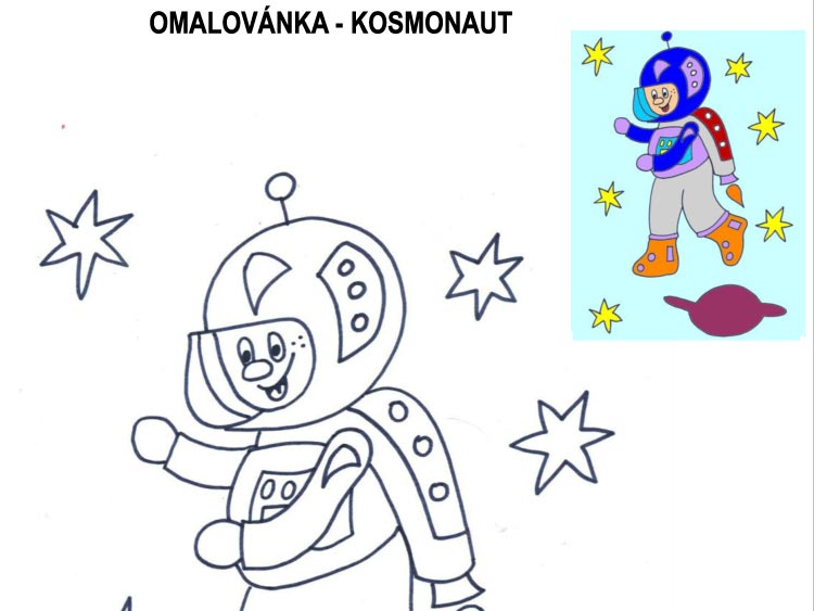 Omalovánka – kosmonaut