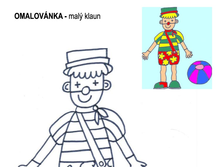 Omalovánka – malý klaun