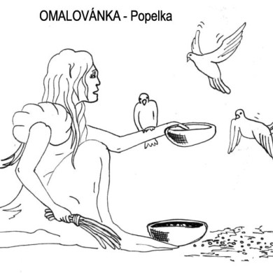 Omalovánka – Popelka