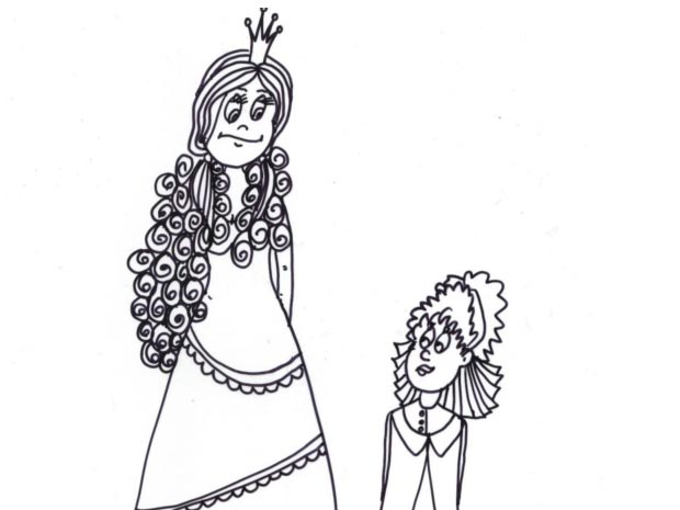 Omalovánka – princezna