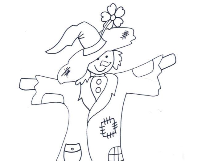 Omalovánka – strašák v zelí