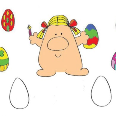 Omalovánka – barvení vajíček