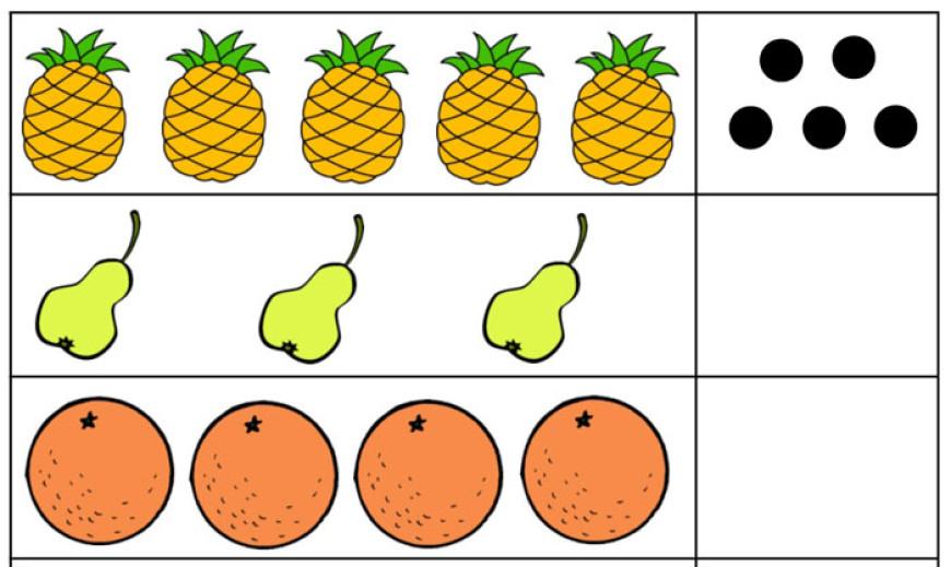 Ovoce – počítání pro předškoláky