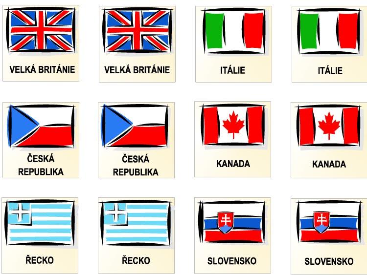 Pexeso – vlajky