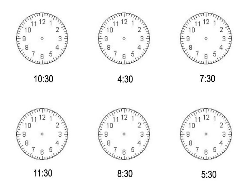 Kolik je hodin? Trénujeme půlhodiny