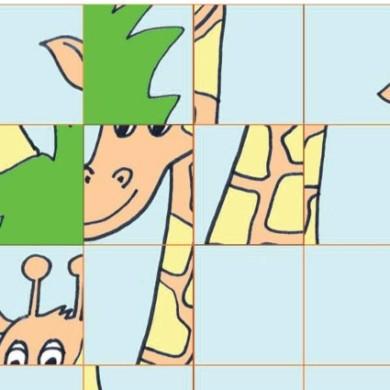 Skládačka – žirafa
