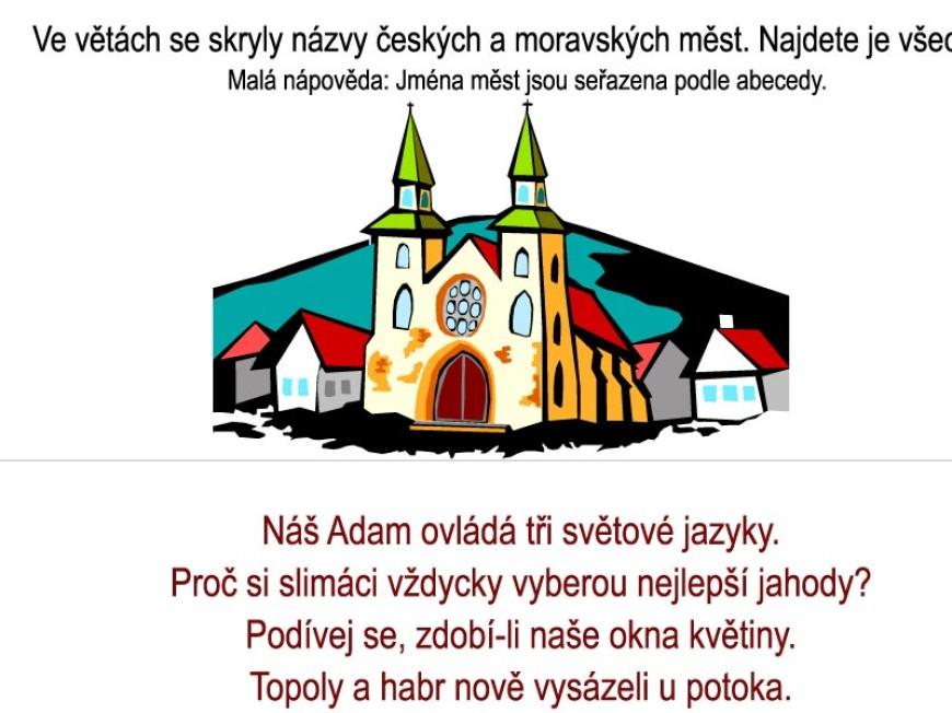 Skrývačky – česká a moravská města