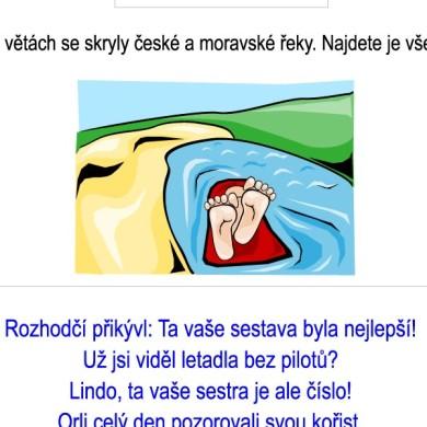 Skrývačky – české a moravské řeky