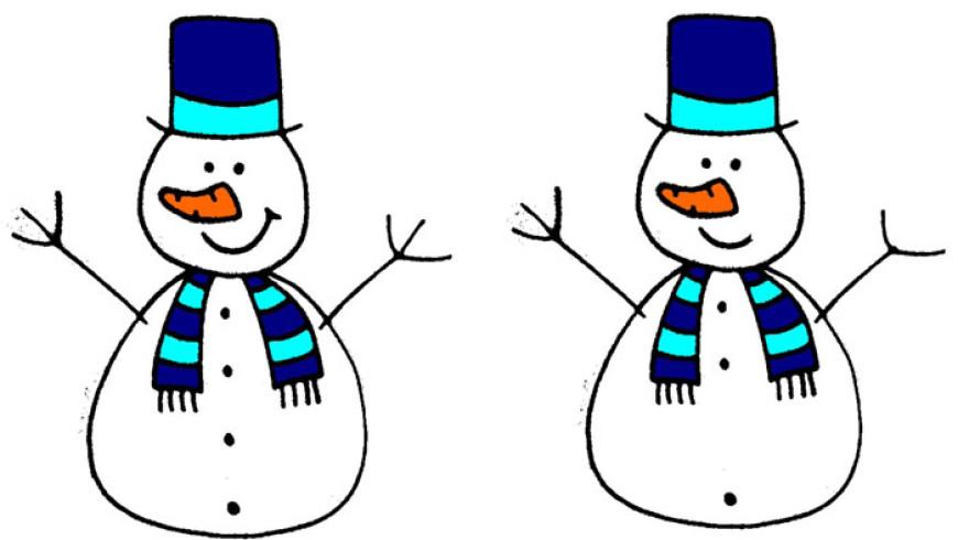 Sněhuláci – hledání rozdílů