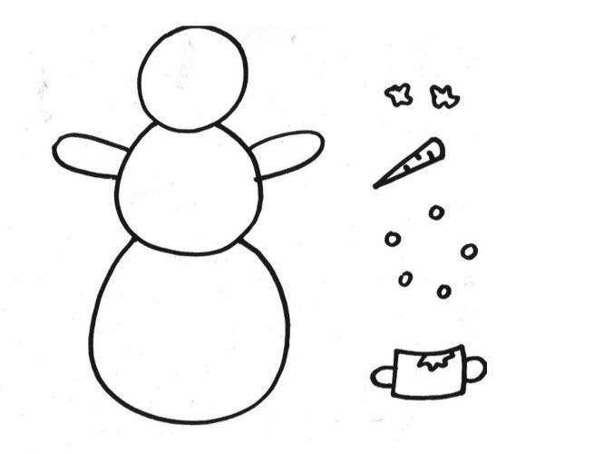 Dokreslete sněhuláka