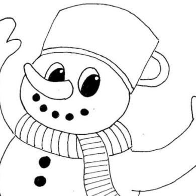 Sněhulák na snowboardu