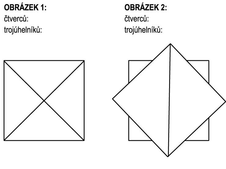 Spočítejte trojúhelníky a čtverce