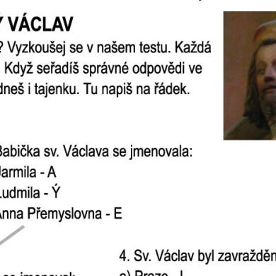 Co víte o sv. Václavu? Vyzkoušejte se!