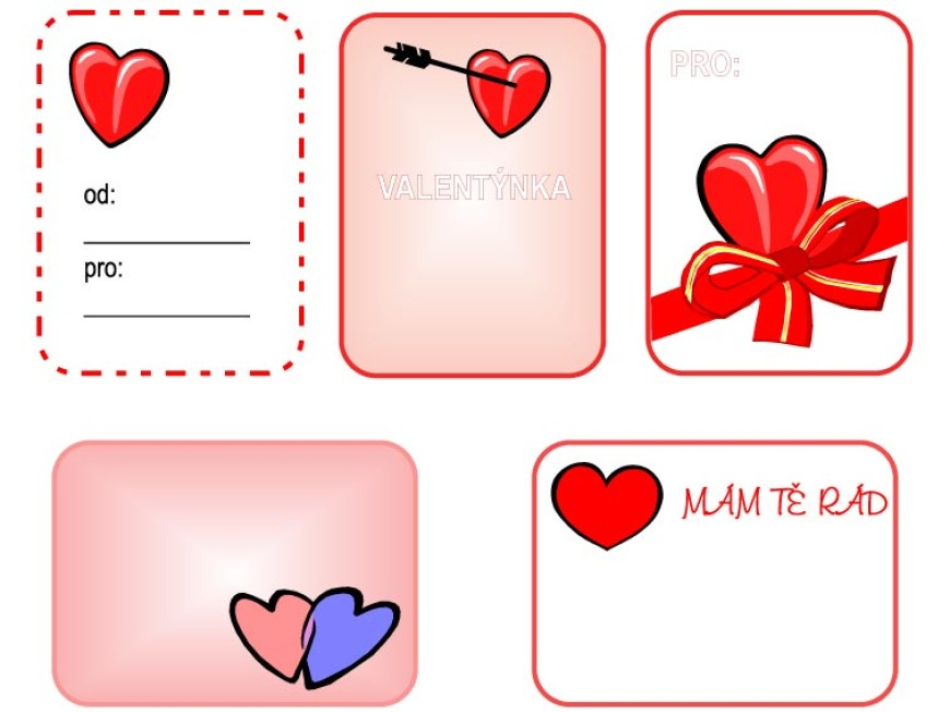 Valentýnské kartičky