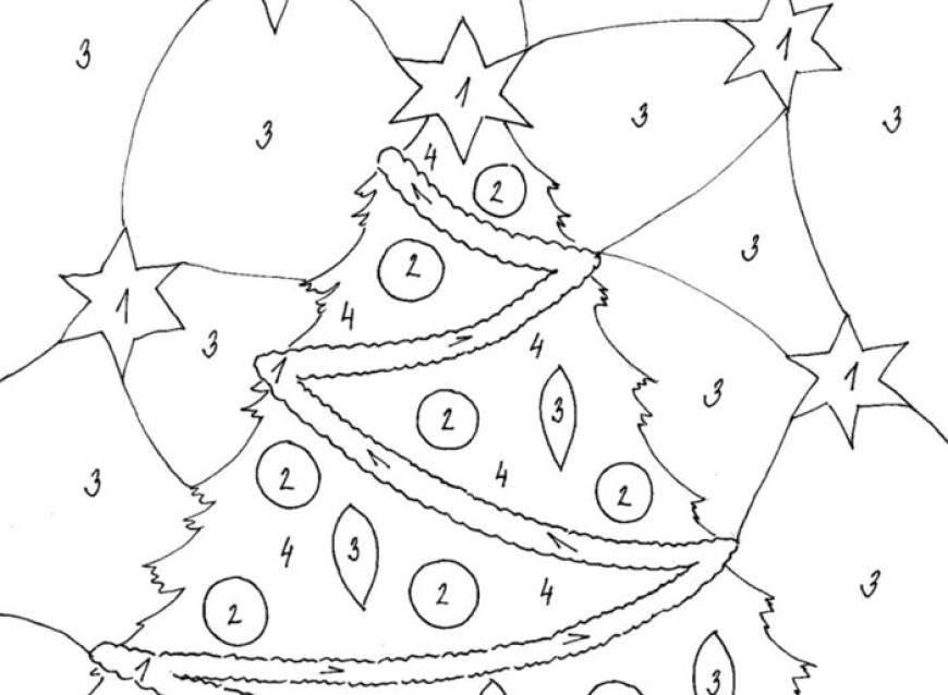 Vánoční barevná omalovánka