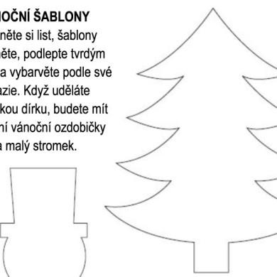 Vánoční šablony k vytištění