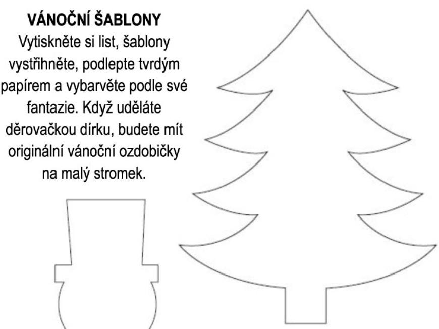 Vanocni Sablony K Vytisteni Detske Stranky