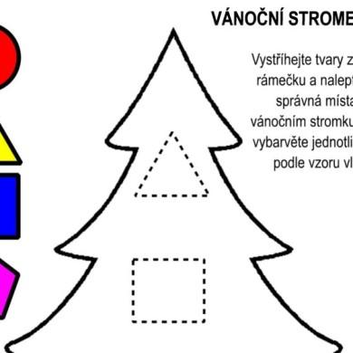 Vánoční stromek – jednodušší verze